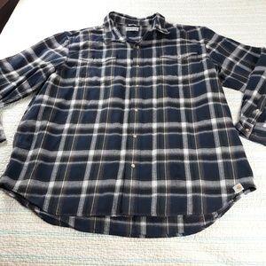 Carhartt Mens 3XL Blue Relaxed Fit Flannel Shirt